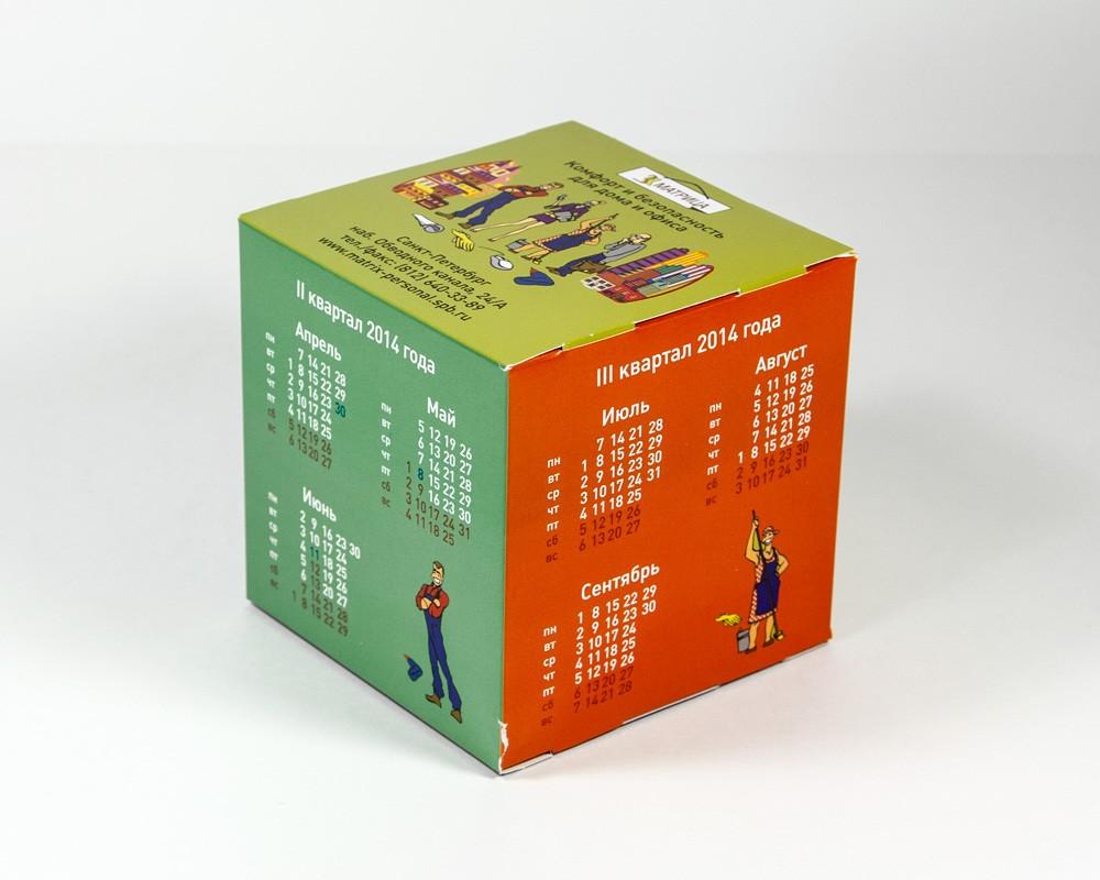 Как сделан кубик календарь
